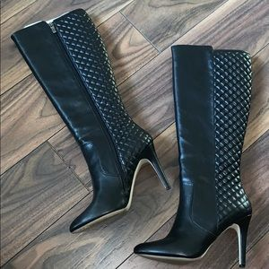 BCBG Quilted Knee Boot